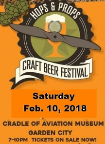 2018 Hops & Props Craft Beer Festival - COMING FEB. 10