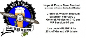 Hops & Props Craft Beer Festival - held 2/9/19