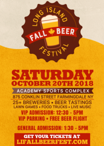 Long Island Fall Beer Festival - held 10/20/18